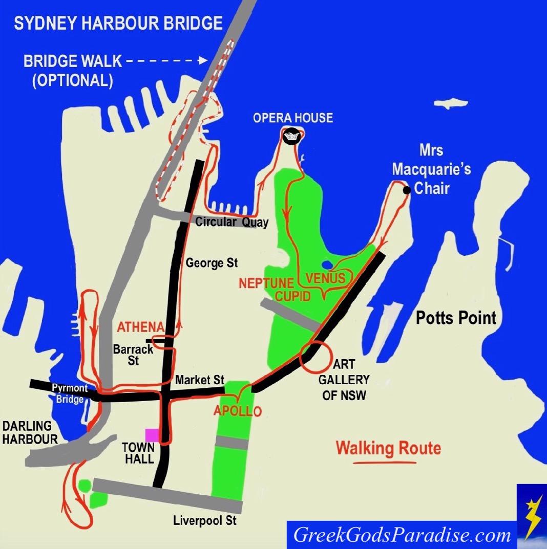Sydney Map Walking Tour Directions