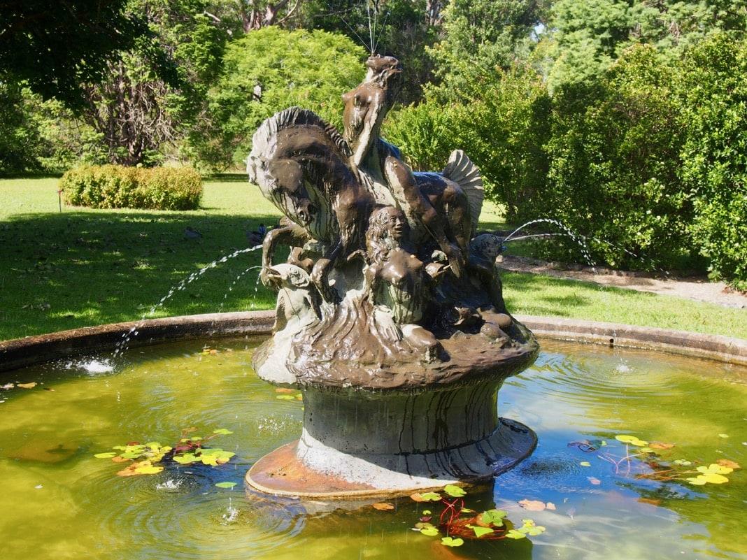 Bronze copy Sea Horse Fountain Norman Lindsay Gallery Faulconbridg