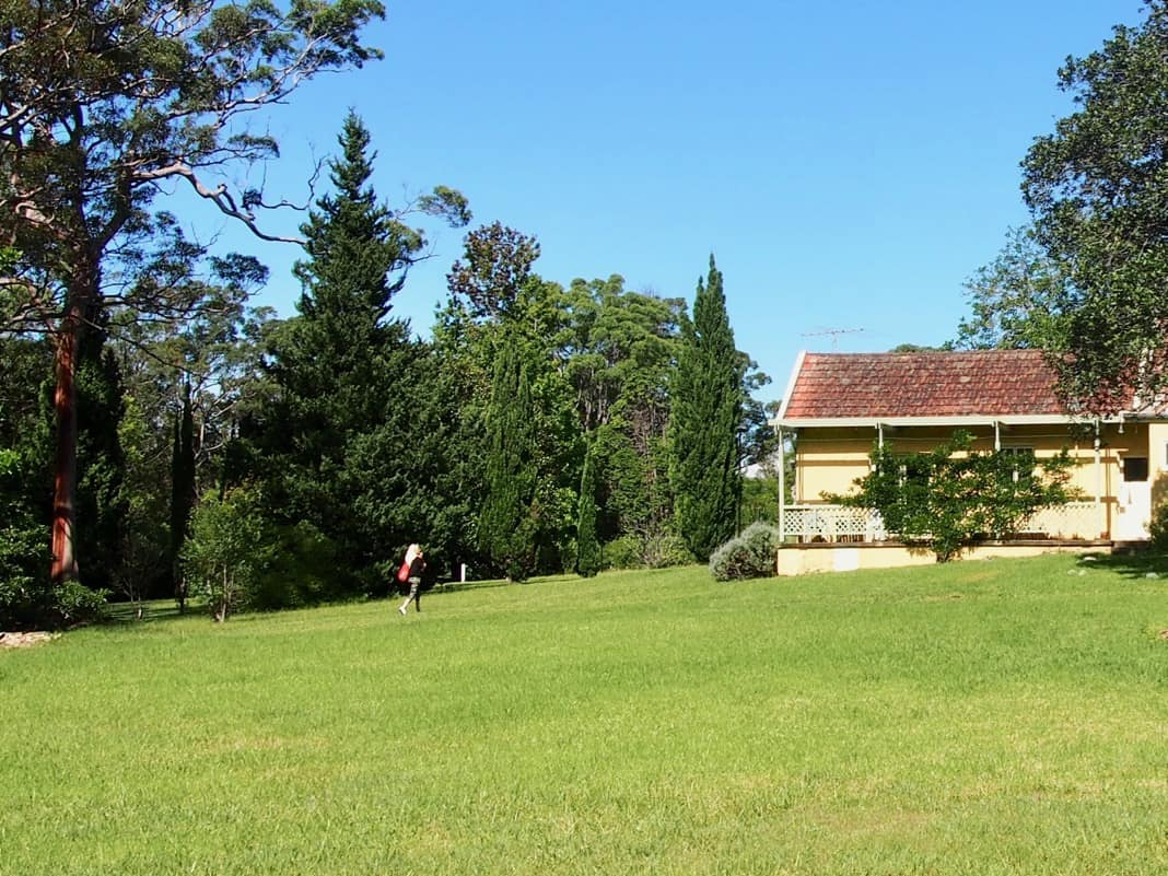 Norman Lindsay Gallery House at the back