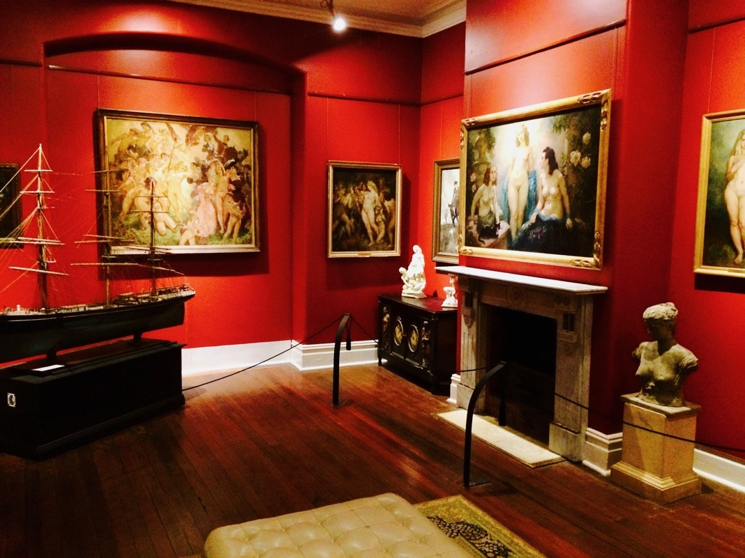 Norman Lindsay Gallery Room with Nude Female Paintings
