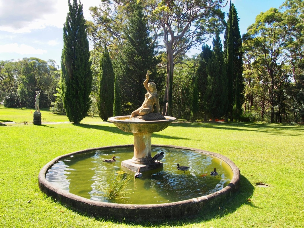 Nymph in Water Pond Norman Lindsay Grounds