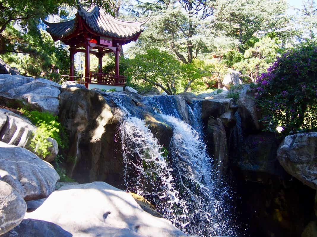 Rinsing Jade Pavilion and Waterfall