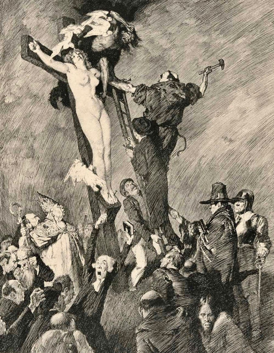 The Crucified Venus by Norman Lindsay