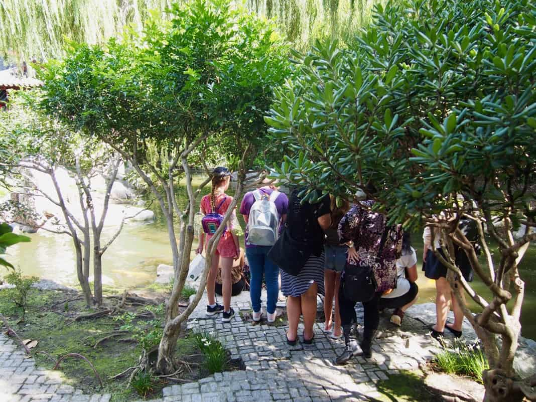 Tourists in the Chinese Garden of Friendship