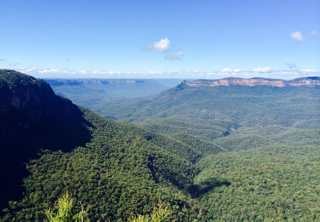 Views over Jamison Valley in the Blue Mountains