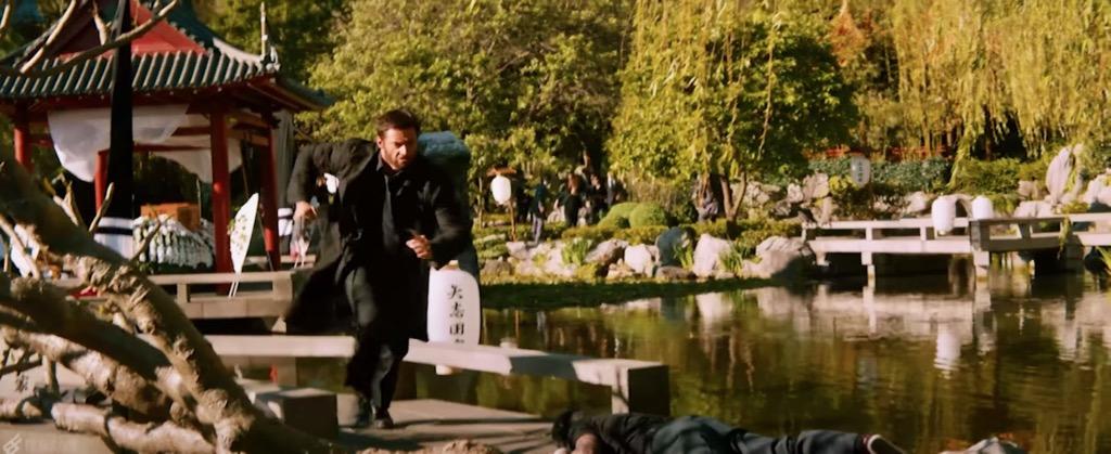 Wolverine Movie Scene filmed inside the Chinese Garden of Friendship