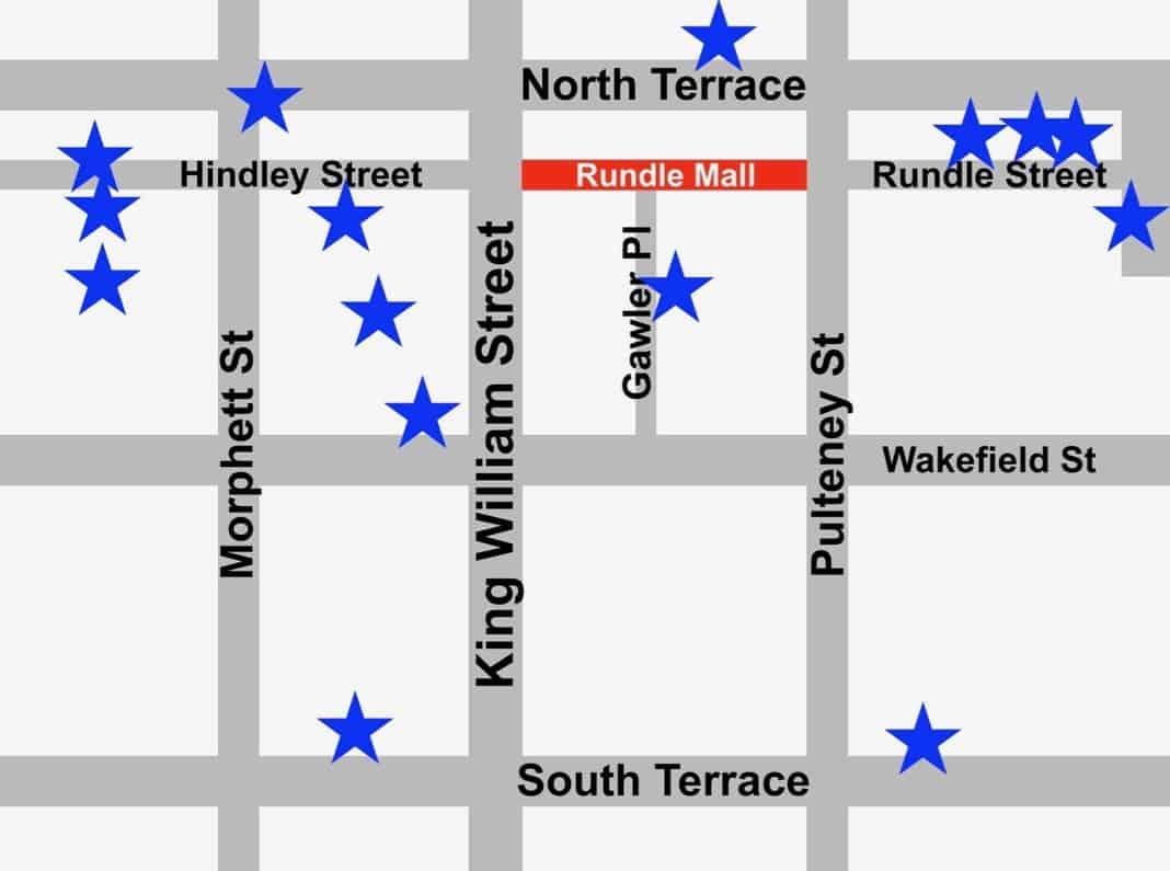 Adelaide CBD Street Art Map