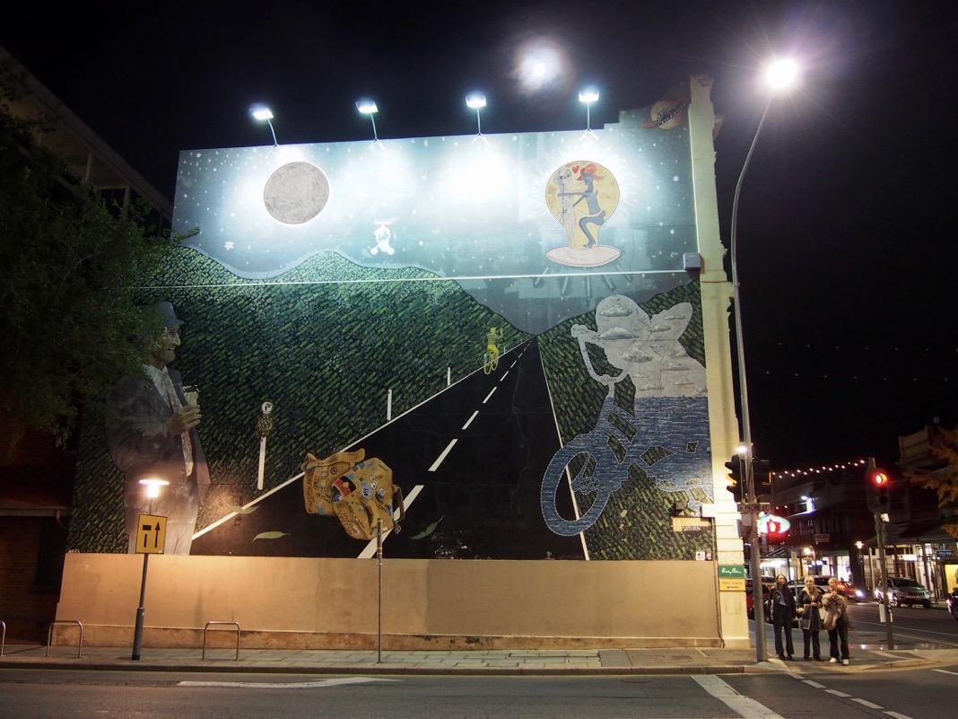 Adelaide CBD best street art Alien From E Street Saturn