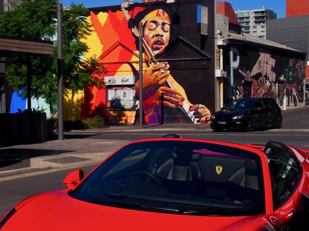 Adelaide CBD best street art Hindley Street