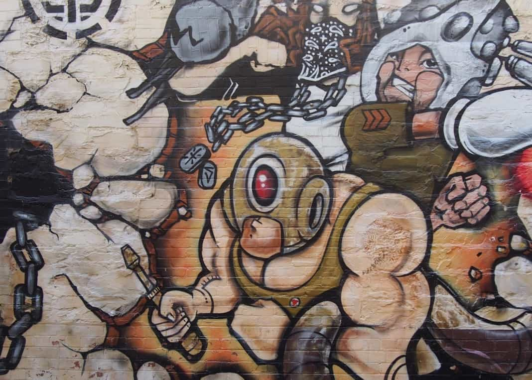 Adelaide Street Art Graffiti on Wall