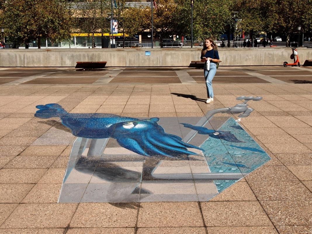 Adelaide University 3D Street Art