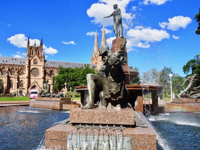 Archibald Fountain in Hyde Park Sydney