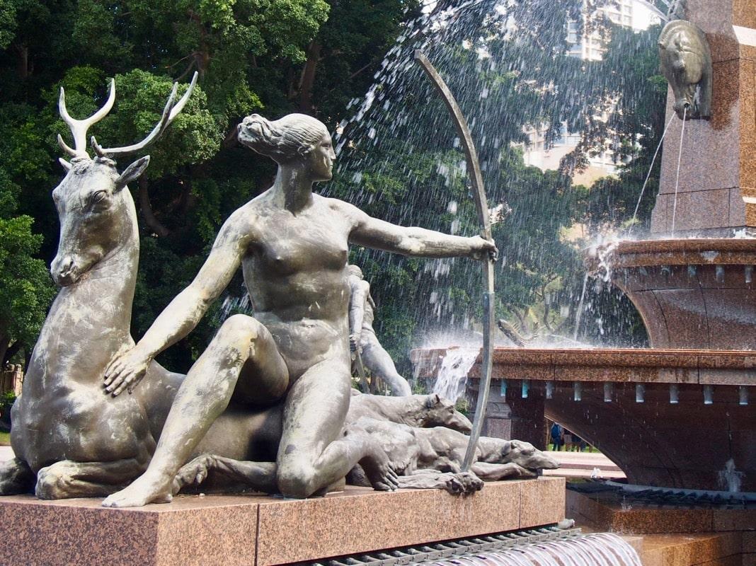 Diana the Huntress Statue Archibald Fountain