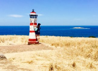 Granite Island Lighthouse Sculpture