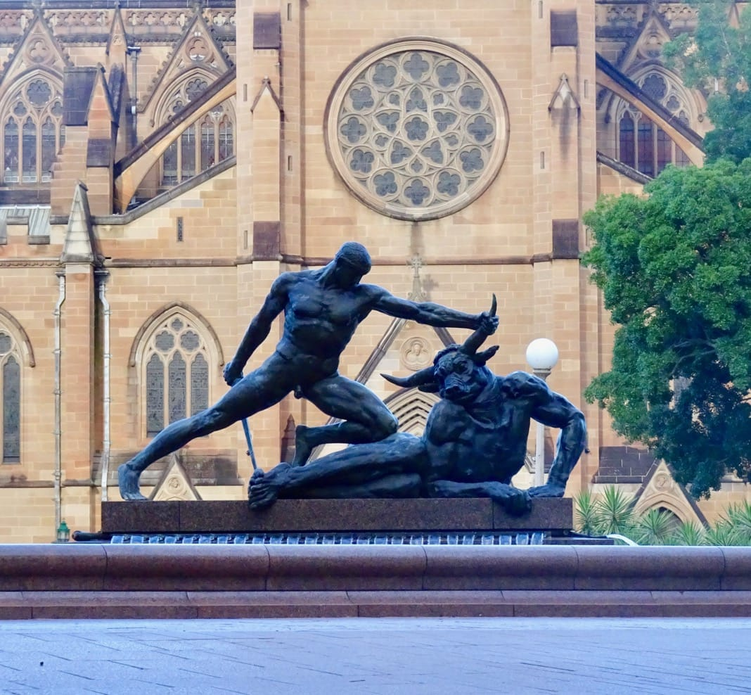 Theseus and the Minotaur Sculpture