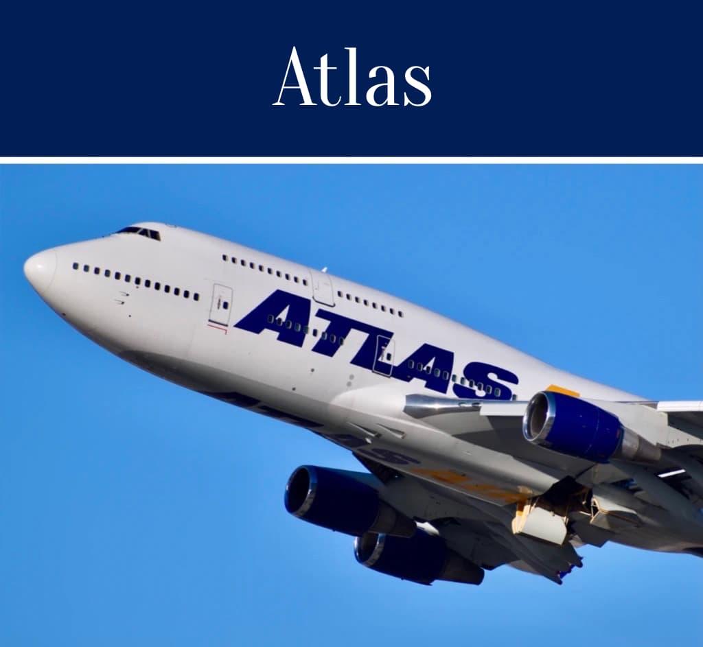 Travel Words Atlas Plane