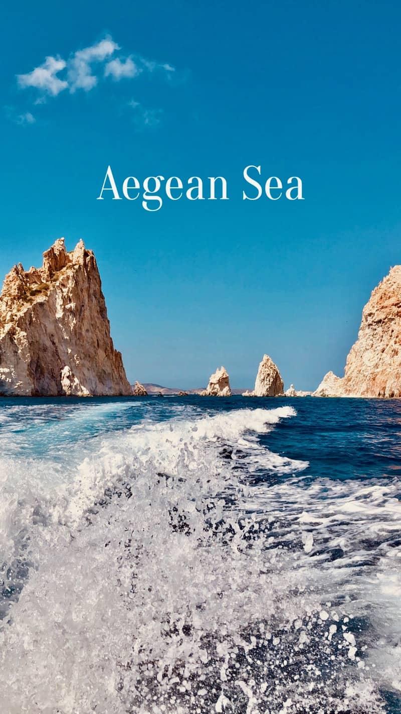 Travel Words Greece Aegean Sea