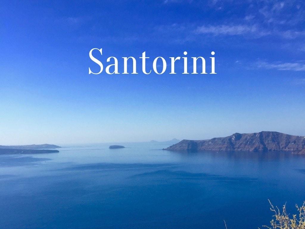 Travel Words Santorini