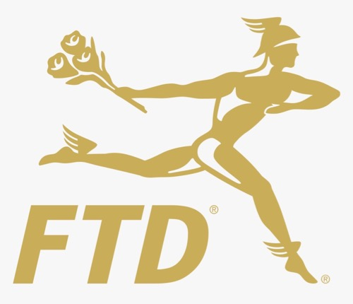 FTD Logo showing Greek God Hermes
