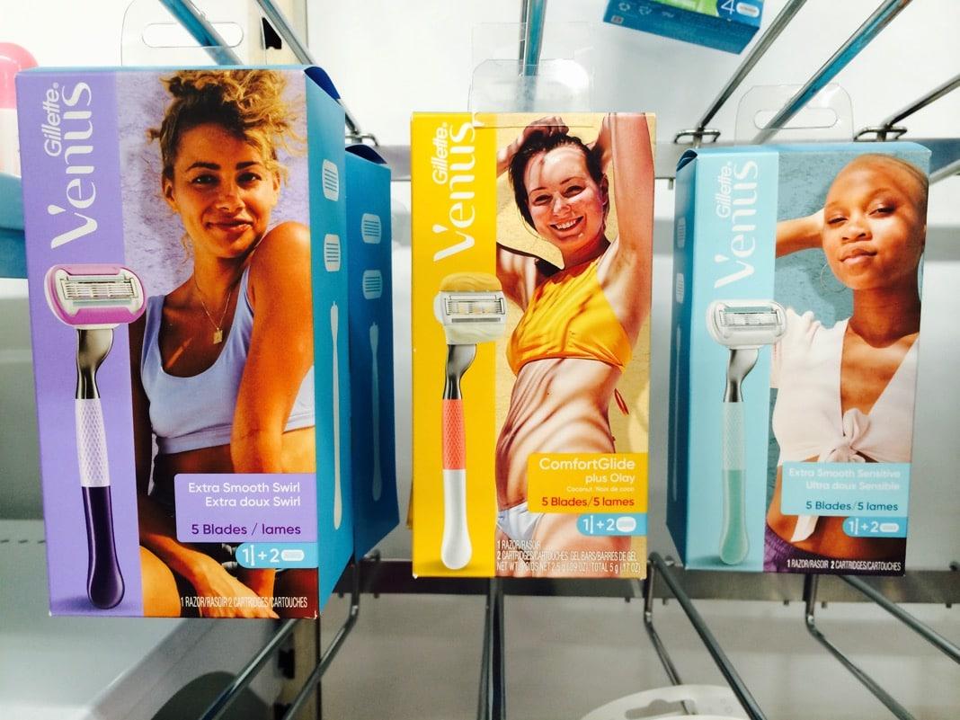 Gillette Venus womens razors Brand