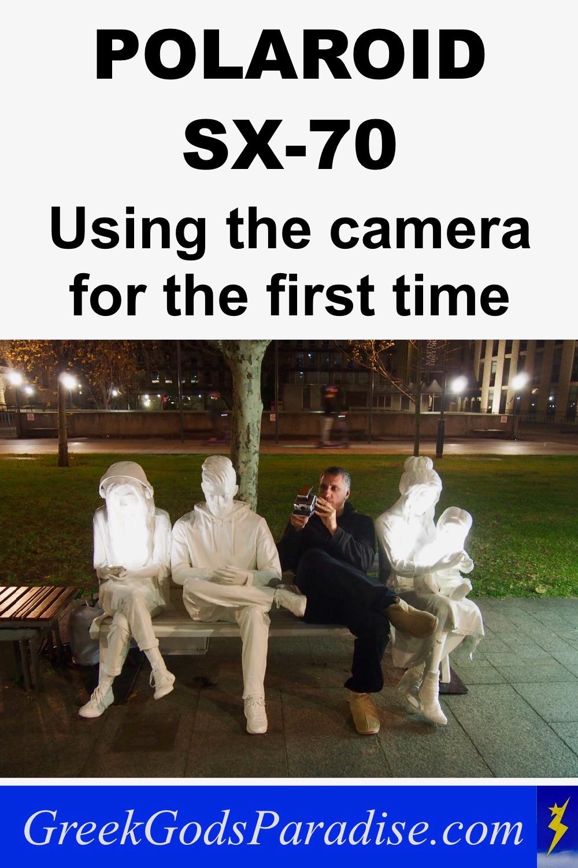 Taking photos with Polaroid SX-70 Camera