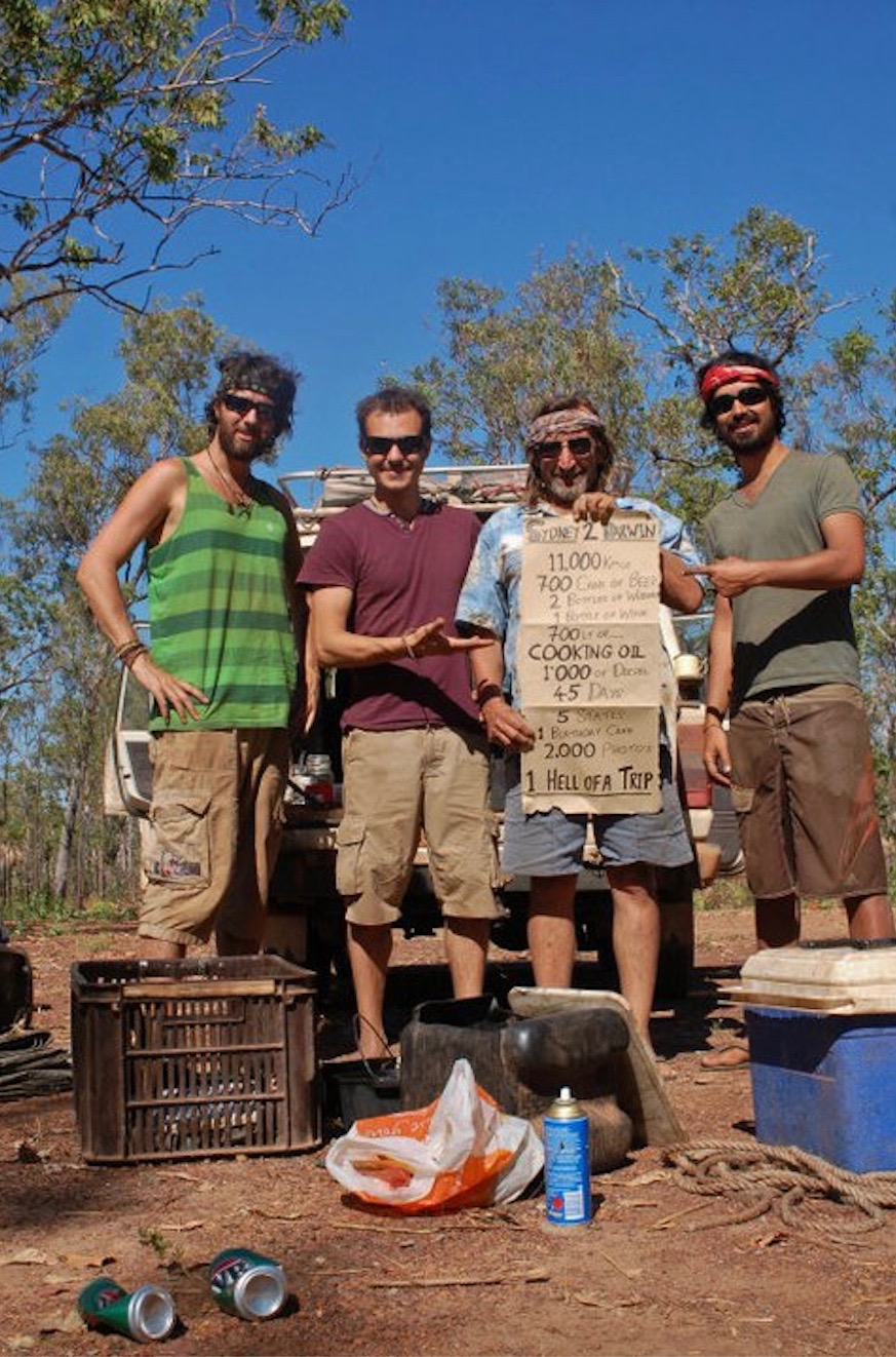 Jeff Murray and friends in the Australian Outback