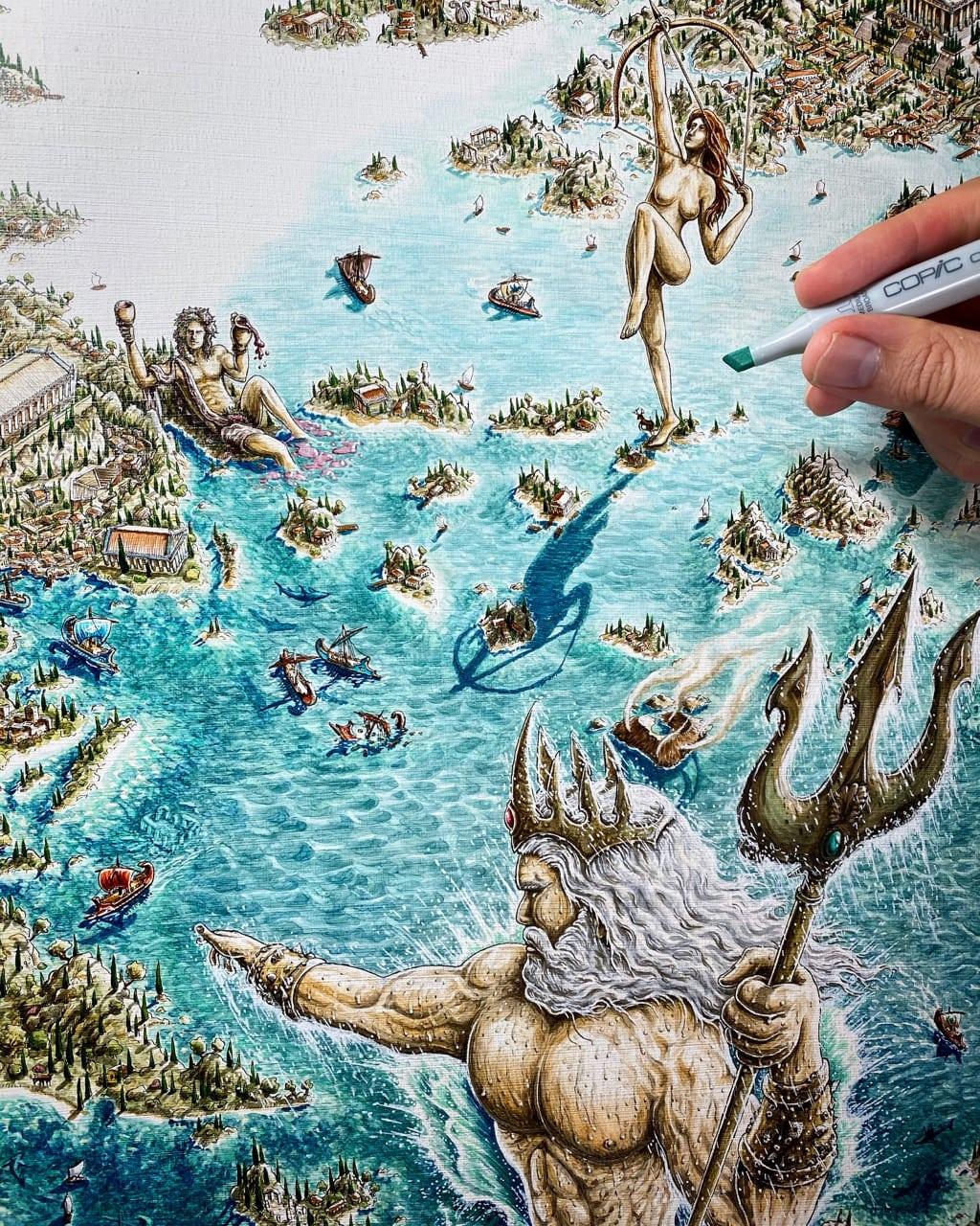 Poseidon in A Greek Odyssey